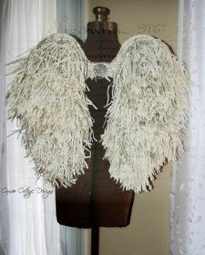 Shabby Tattered Angel Wing Tutorial