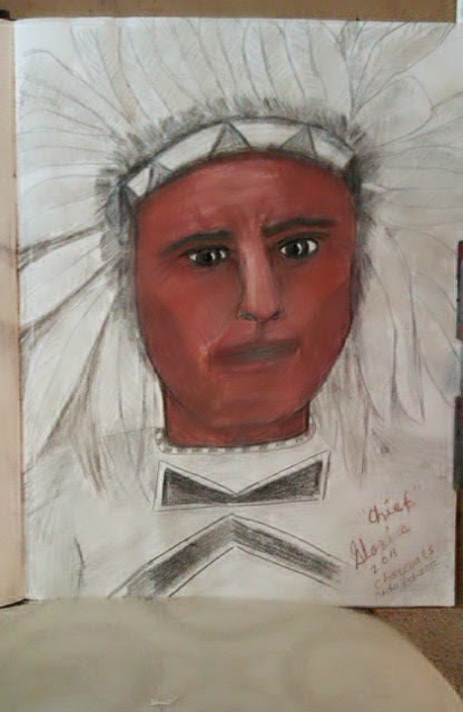 American Indian Chief ethnic series by Gloria Poole of Missouri