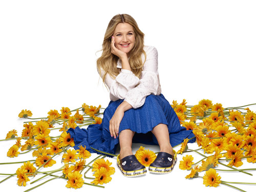 Drew Barrymore inspired by love, positivity and her quirks for debut Crocs collection