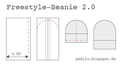Mini Tutorial: Freestyle Beanie nähen (Freebie)