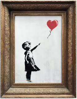 First Time in the History of Art (Banksy Self-destructed his Own Painting)/Girl with Red Balloon