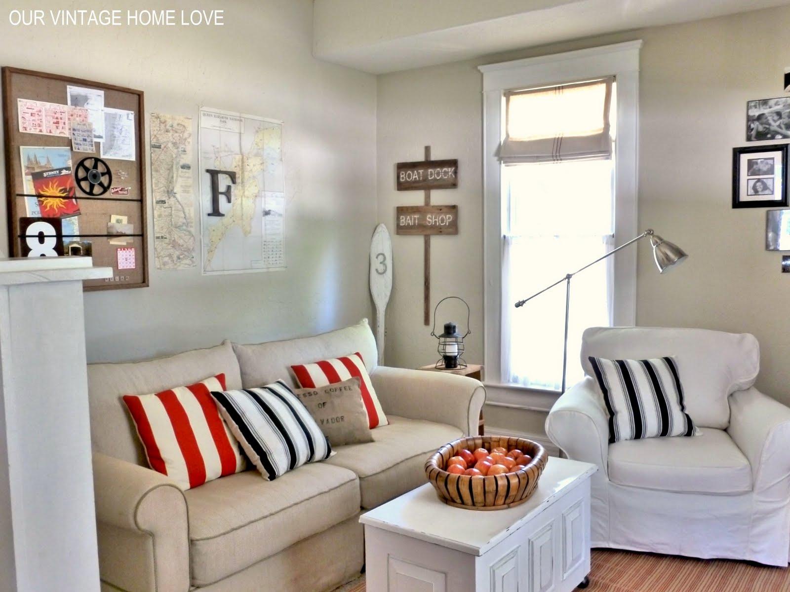 Vintage Home Love: Family Room/Den Ideas