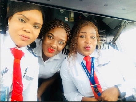 Beautiful Women Pilots Lead All Female Crew On Air Peace Flights