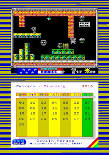ProgramBytes48k: Calendario para 2016, especial juegos ZX Spectrum