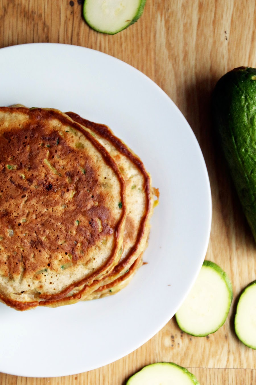 Zucchini Bread Pancakes with Maple Yogurt
