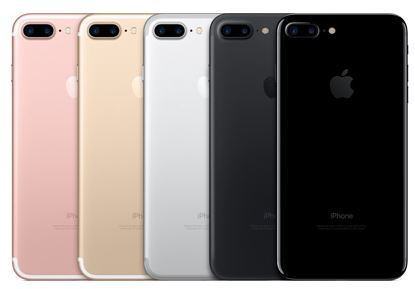 iPhone 7 and iPhone 7 Plus will be available in rose gold, gold, silver, black, jet black.