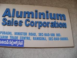 Aluminium Sales Corporation  Minister Road Secunderabad