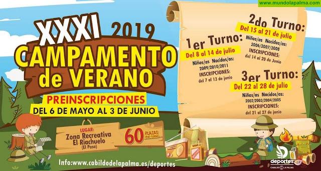 El Cabildo pone en marcha el campamento de verano de El Riachuelo con 180 plazas ofertadas