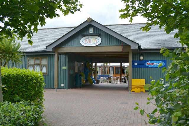 The shop and entertainment complex at Hillhead Caravan Club site