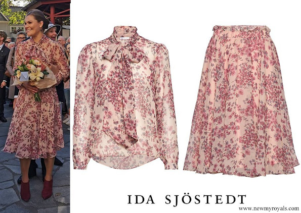 Crown Princess Victoria wore Ida Sjöstedt Peony blouse and Moody Skirt