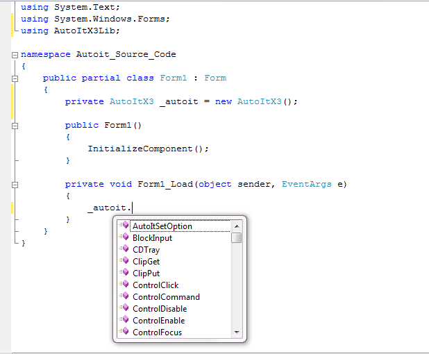 How to Use Autoit in c# ~ Autoit Source Code