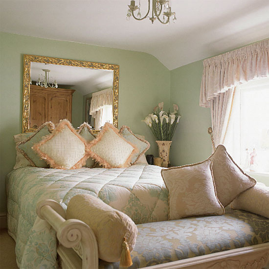 Mint Green Bedroom Decor: New Home Interior Design: Glamorous Traditional Bedroom
