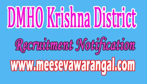 DMHO Krishna District Recruitment Notification 2016