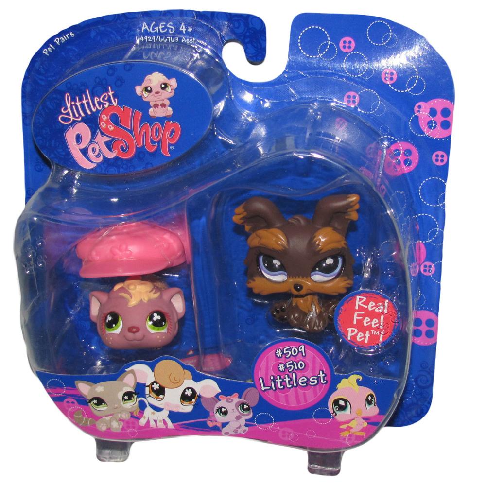 Littlest Pet Shop Pet Pairs Yorki /& Guinea Pig Hasbro LITTEST PET SHOP