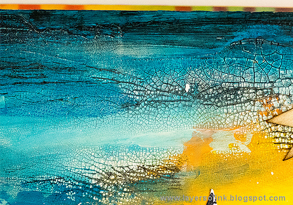 Layers of ink - Acrylic Background Art Journaling Tutorial by Anna-Karin