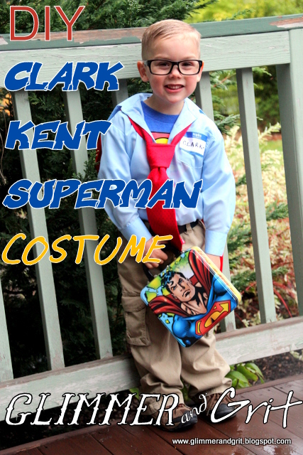 Glimmer And Grit Diy Clark Kent Superman Kids Costume