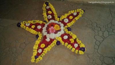 Flower Rangoli Patterns
