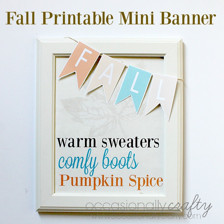 Fall Printable Mini Banner