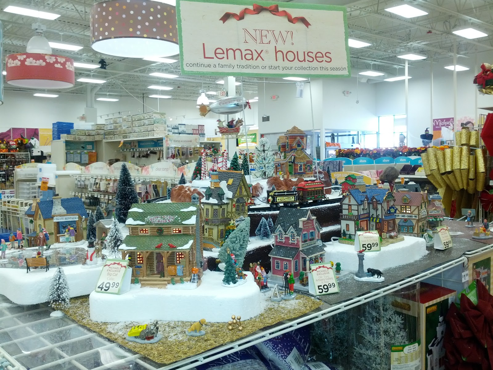 michaels lemax display 2012 - Christmas Village Sets Michaels