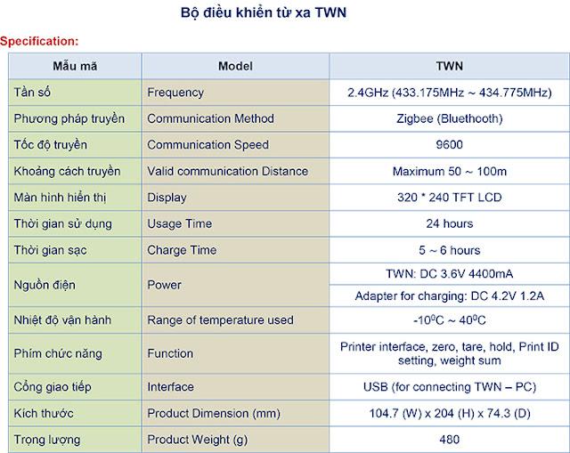 bộ điều khiển cân treo cas twn-100b cas thd hth