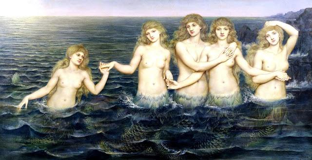 Evelyn De Morgan - Le vergini del mare - omoerotismo
