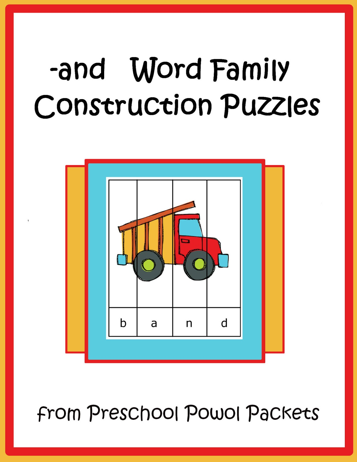Free Construction Theme Preschool Printables