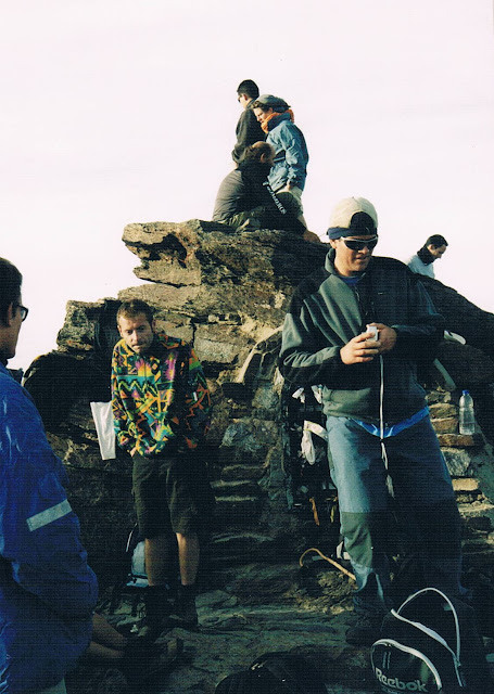 Ludzie na szczycie Mulhacen 3.478,6 m.