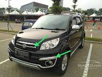 Nomor Part Untuk Alis Foglamp Dan Grille Depan Daihatsu Terios 2013-2014