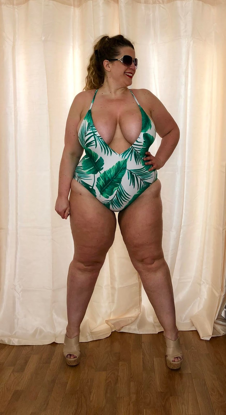 Forever 21+ Leaf Print Swimsuit