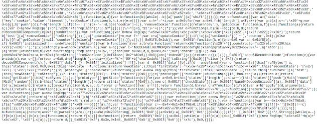 Líneas finales capturadas del archivo «min.js»