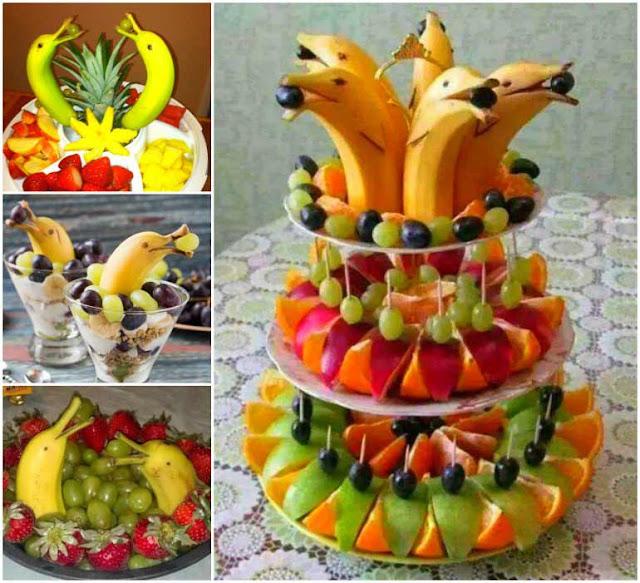идеи оформления фруктов