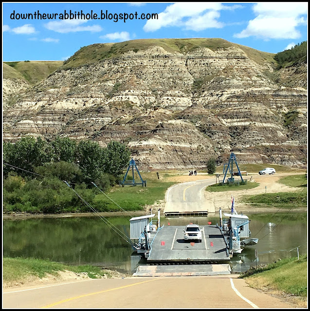 Bleriot Ferry in Drumheller Alberta