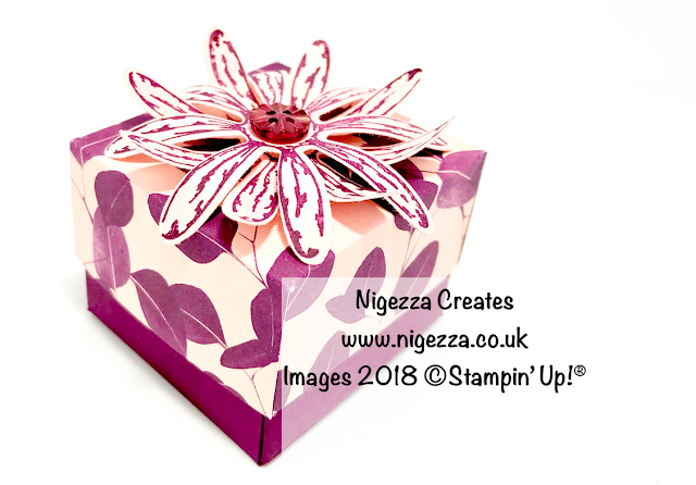 Daisy Lidded Gift Box Using Stampin' Up!® Natures Poem Nigezza Creates