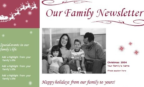Simple Family Newsletter Templates