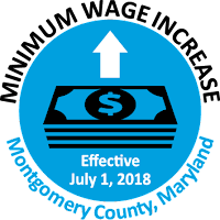 minimum wage increase effective July 1st, 2018.