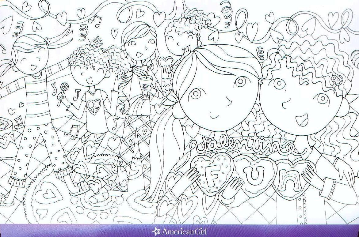 American girl doll coloring pages to print for American girl coloring pages printable