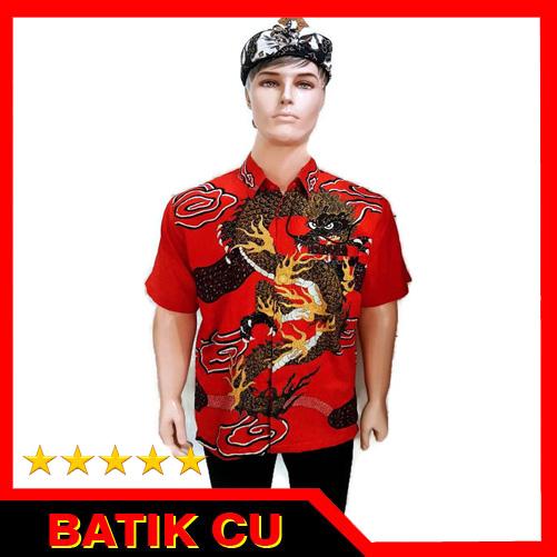 Kemeja Dari Batik Tulis: Kemeja Batik Tulis Motif Naga Khas Cirebon