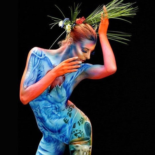 Photogallery of miracles of light: Body Art Festival in Portschach, Austria