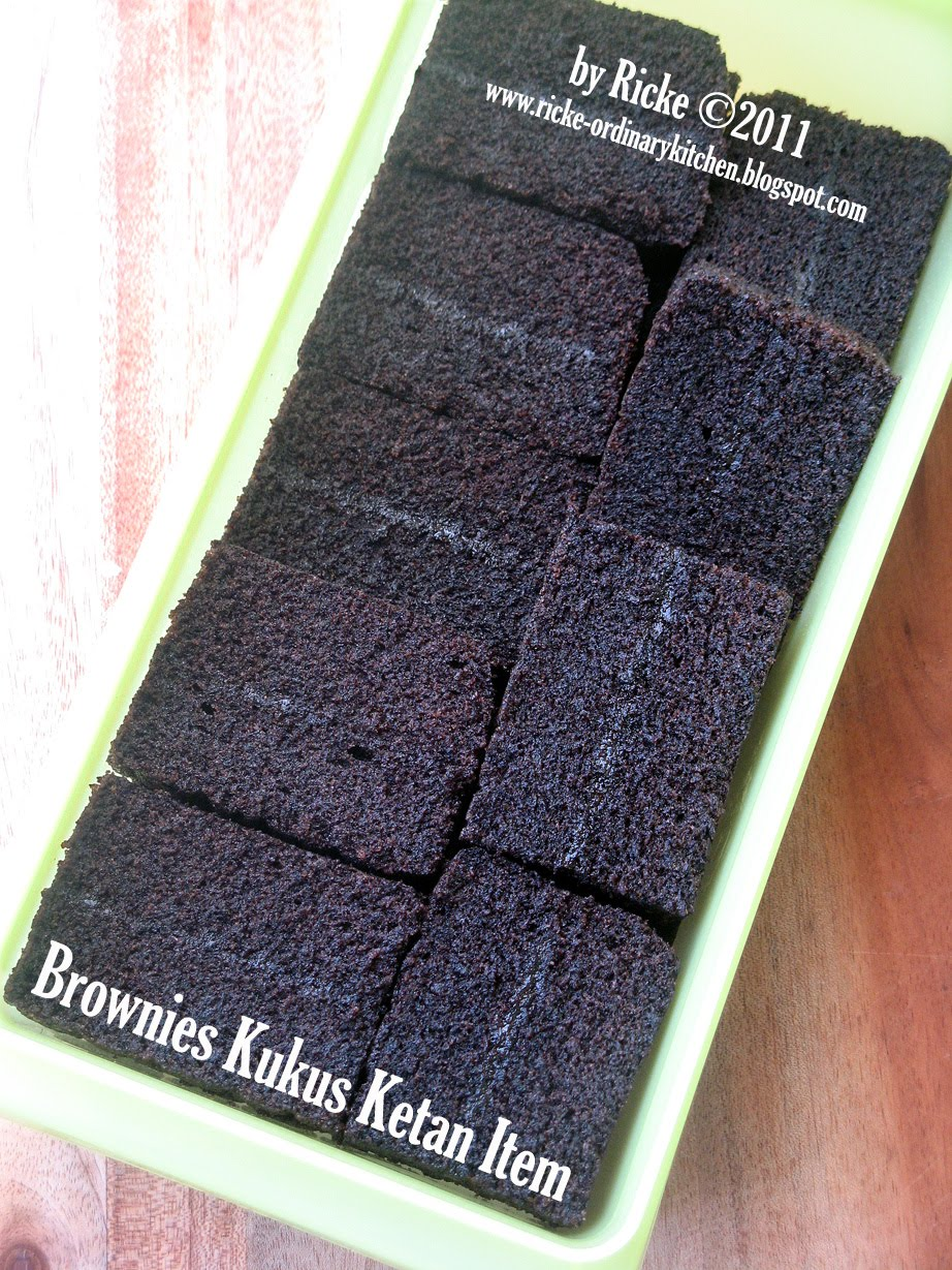 Just My Ordinary Kitchen Bronketem Brownies Kukus