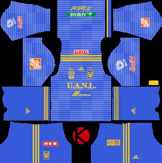Tigres UANL 2018/19 Kit - Dream League Soccer Kits