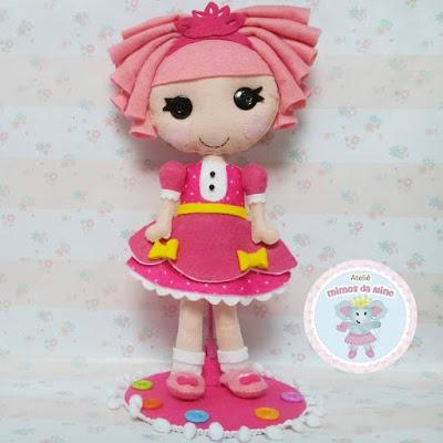 """alt=""""boneca Lalaloopsy em feltro"""""""