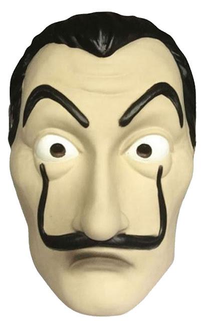 Máscaras de Dalí tipo la Casa de Papel para Imprimir Gratis.
