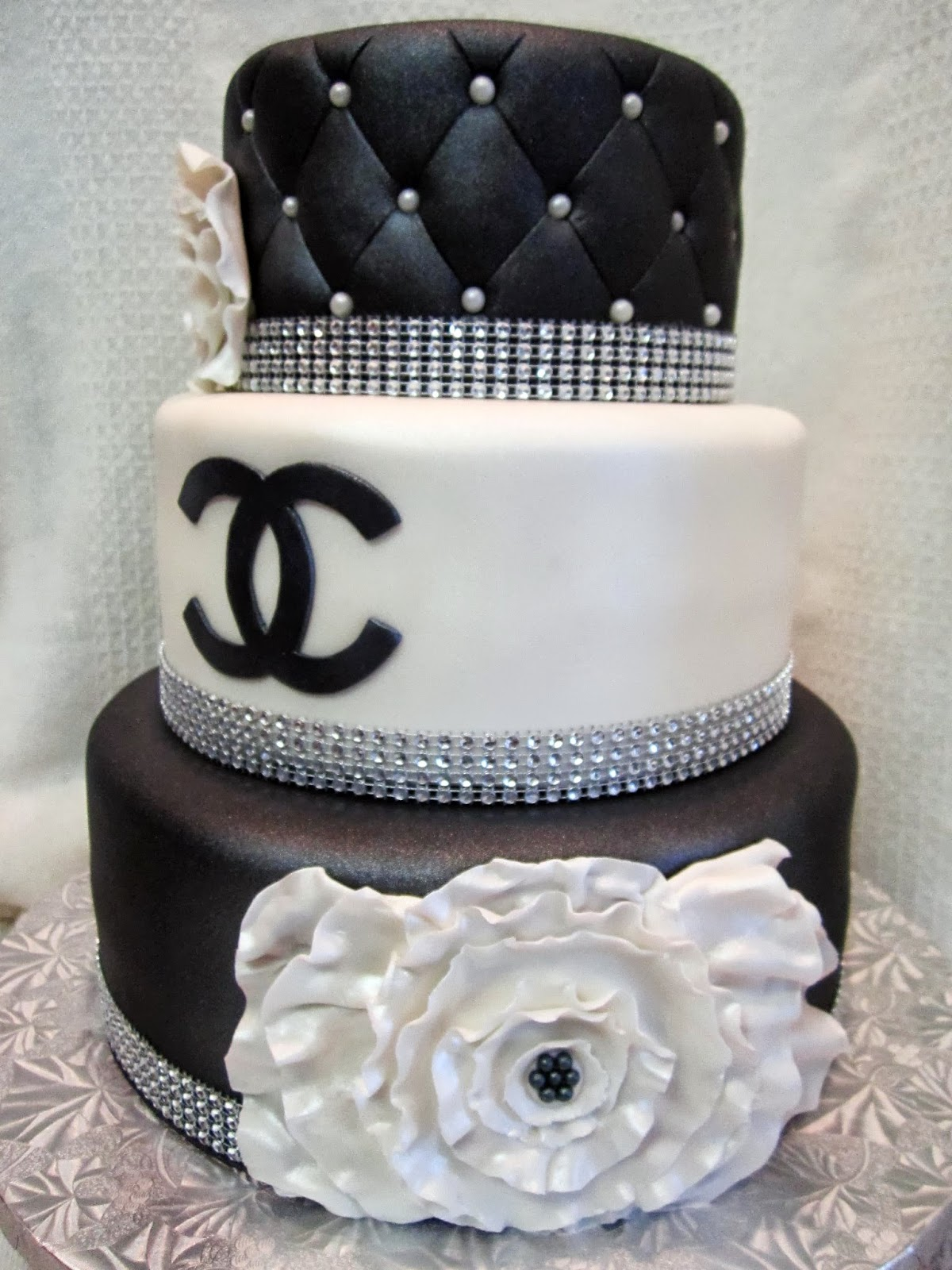 Mymonicakes Chanel Inspired Cake With Quilted And Ruffle