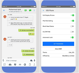 Download Kumpulan Tema BBM MOD Like iOS v3.3.1.24 APK Versi Terbaru 2017