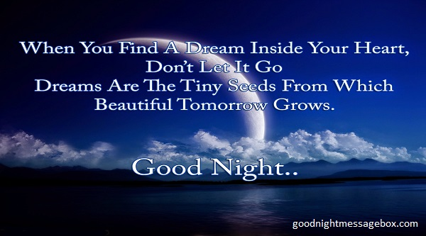 so dont avoid it and try to send a good night wish in a very special manner as it can possible