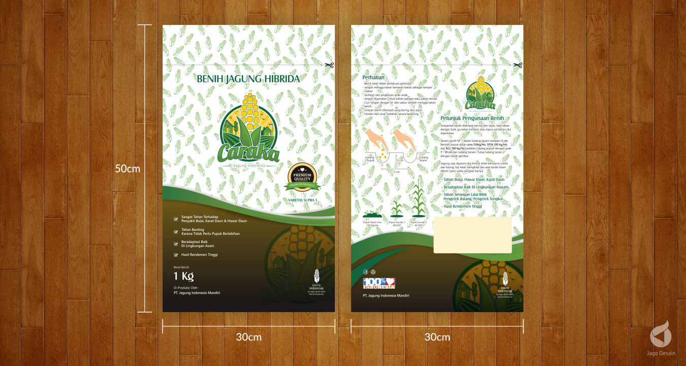 Portfolio Jago Desain - Kemasan Caraka Premium