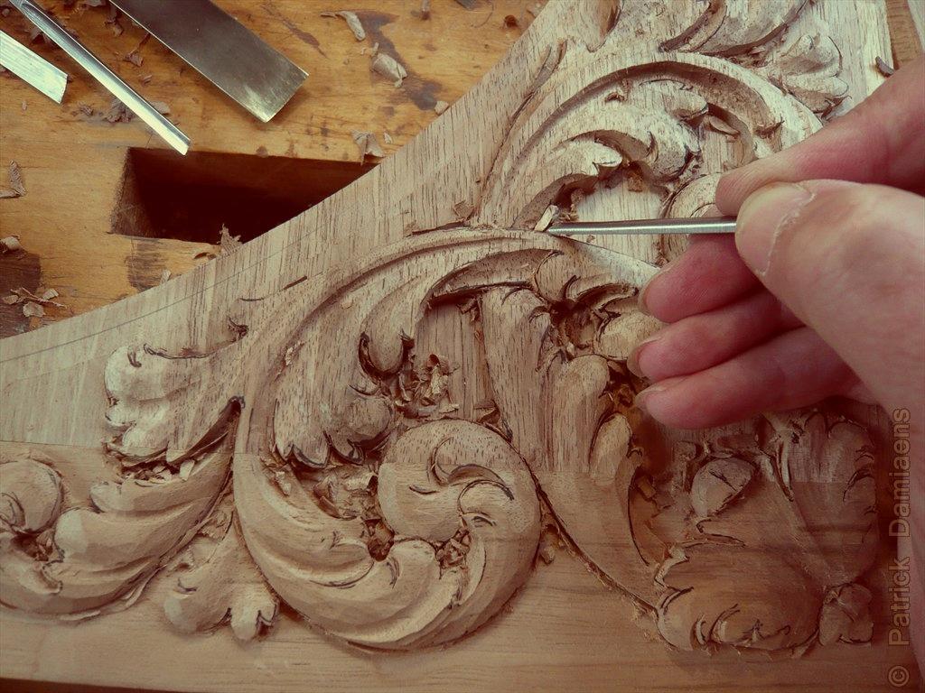 Ornamentsnijder Patrick Damiaens Houtsnijwerk 17e Eeuws