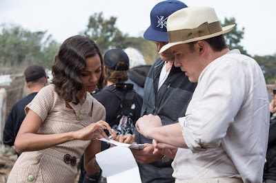Ben Affleck and Zoe Saldana on the set of Live By Night (13)