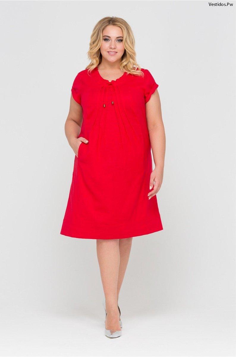 Vestidos strapless rojos para gorditas