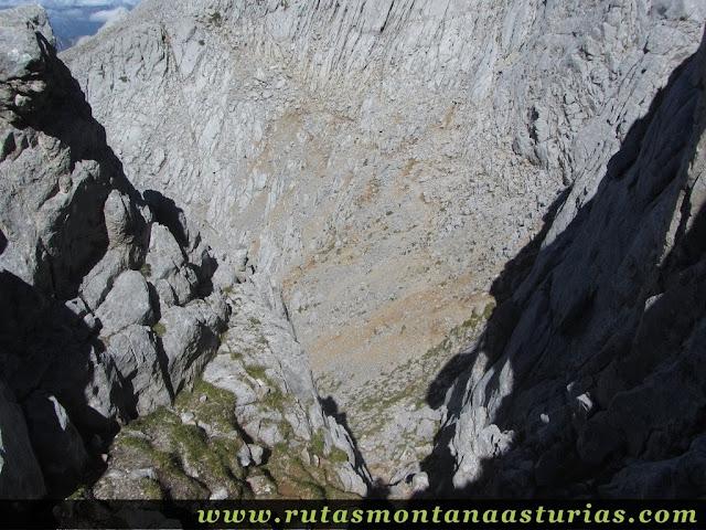 Ruta Canal Grajas y Covarones Cortes: Destrepe chimenea